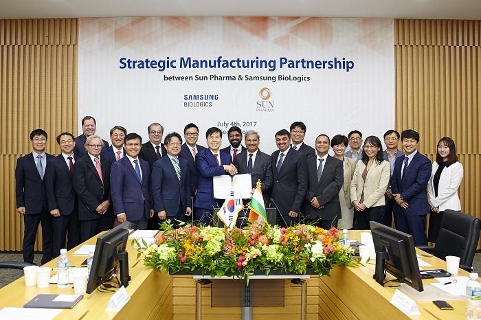 Sun Pharma & Samsung BioLogics announce strategic manufacturing